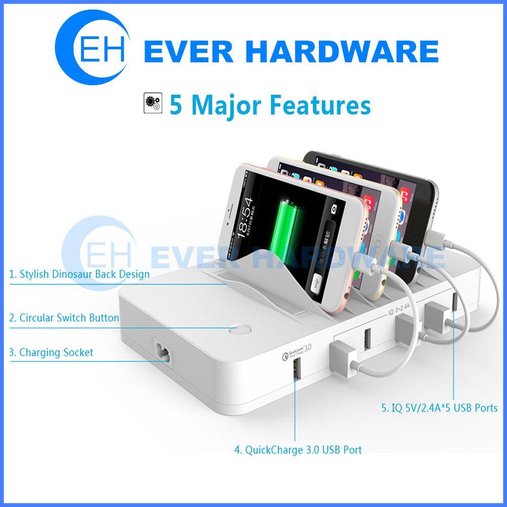 Usb Charging Hub >> Usb 3 0 Charging Station Usb Charging Hub Organizer For Smartphone