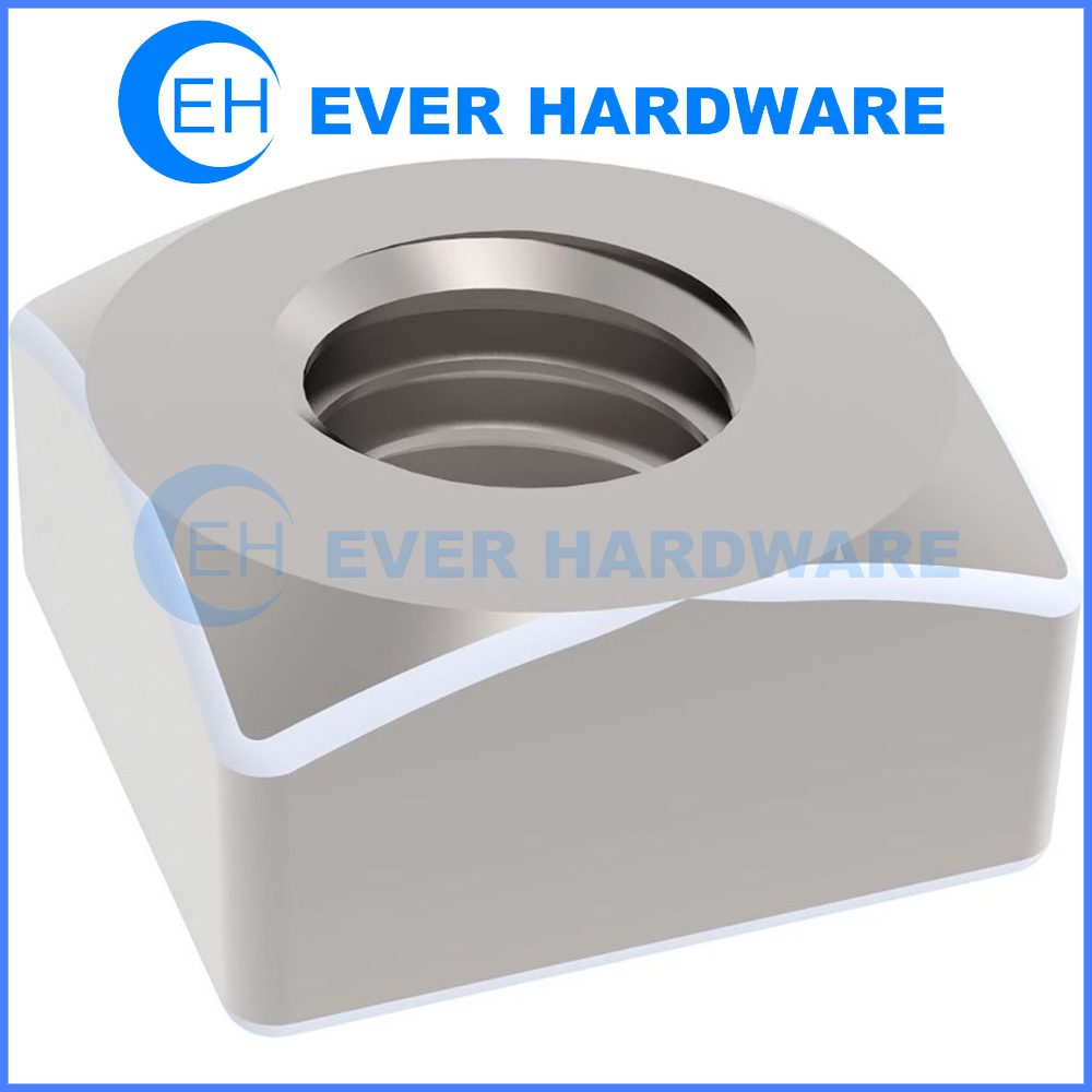 Clear Zinc Plating Square Nut DIN 557 Galvanizing Finish Metric Nuts
